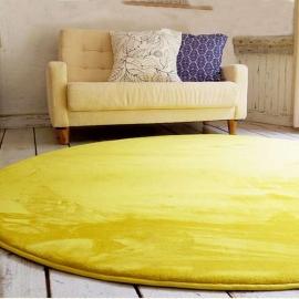 Круглый желтый ковёр с коротким ворсом JumKids Memory Foam Sun